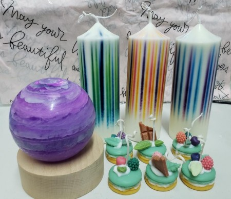 光諎蠟燭+馬卡龍皂